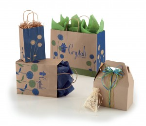 painted posies gift bags shoppers