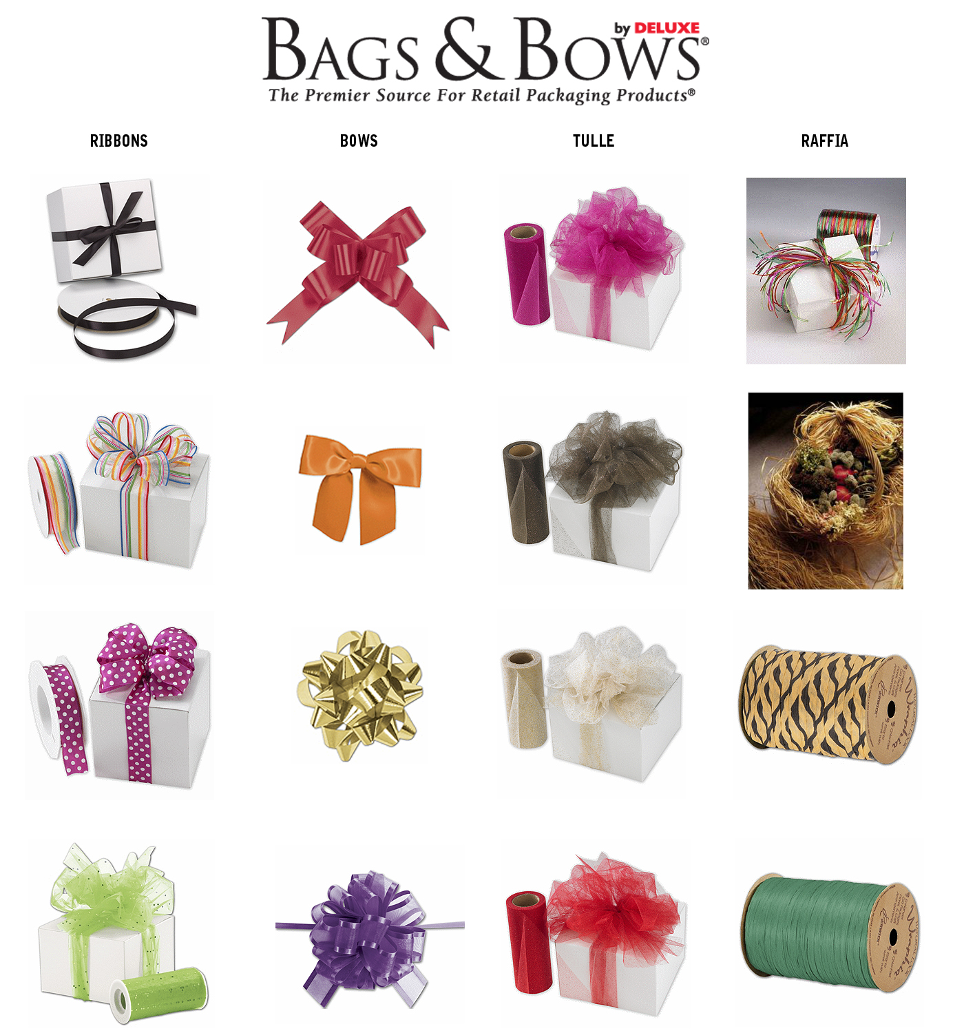 Ribbons Bows Raffia and Tulle