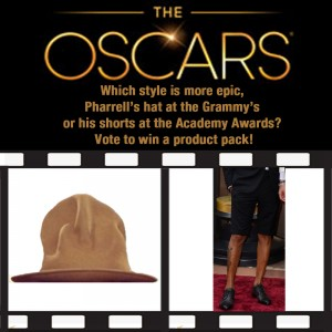 OSCARS BEST COLLECTION NOMINEES - Pharrell's hat Twitter