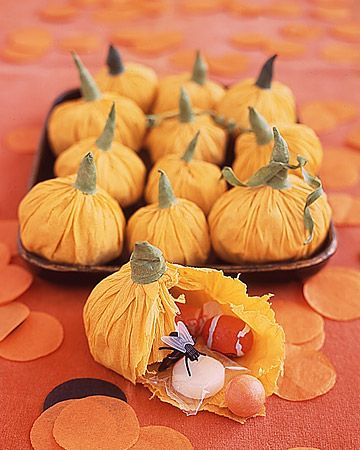 Pumpkin Tissue Paper Treats