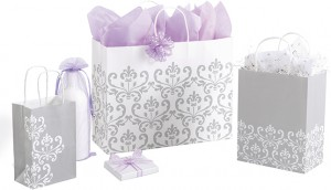 silvery chic gift bags