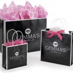 black shoppers gift bags