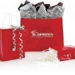 red shoppers gift bags